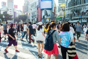People watching in Shibuya